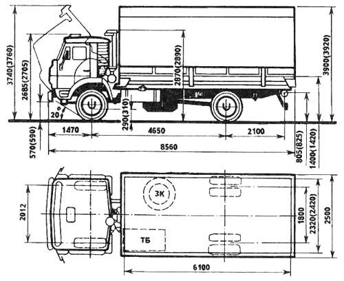 Технические характеристики КАМАЗ 5315