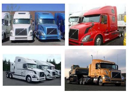 фото американец вольво грузовики